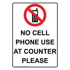 225x225 No Cell Phone Use Sign Ebay