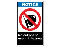 200x155 Ansi Notice No Cell Phone Use In This Area