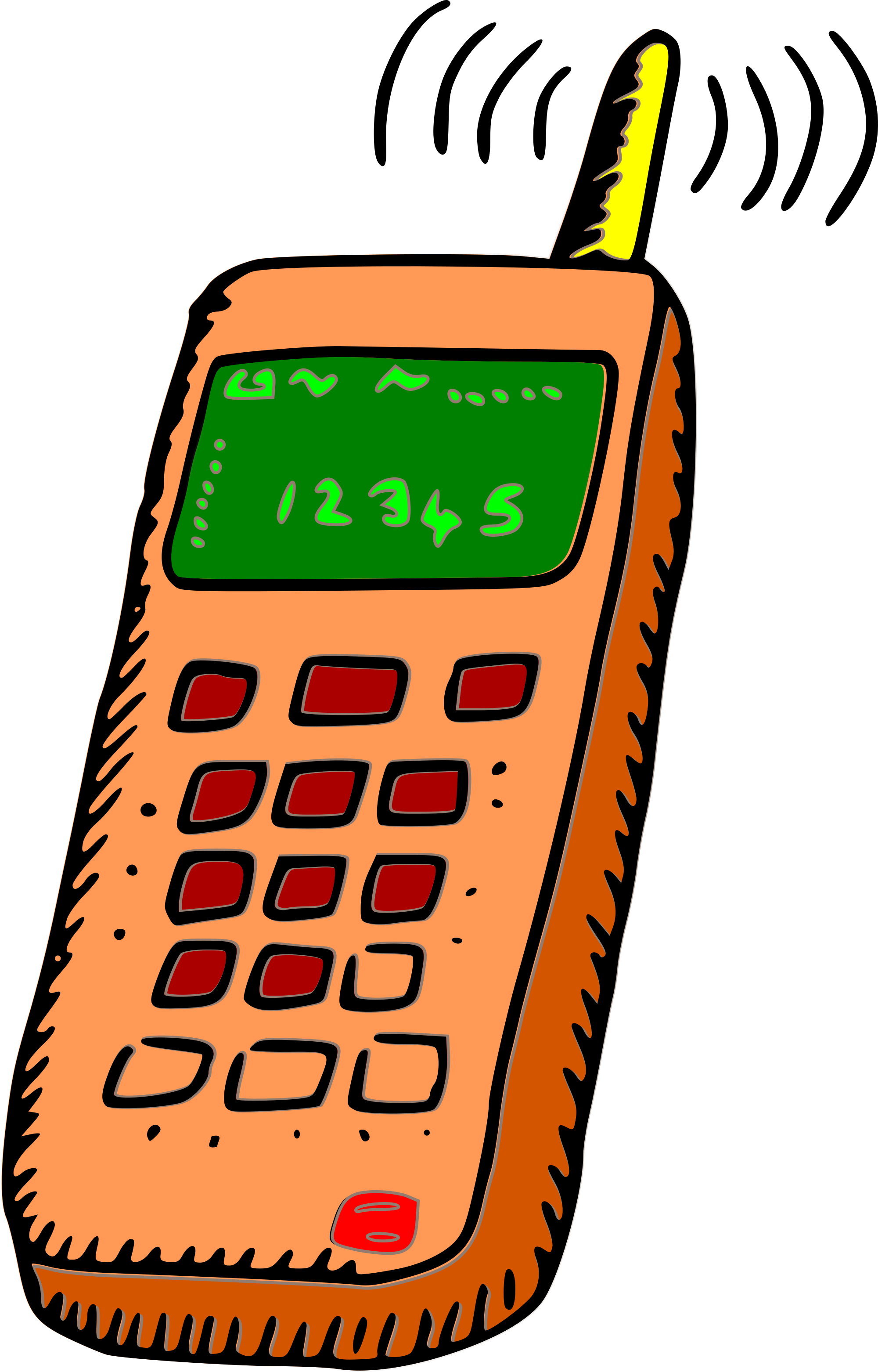 2000x3124 Iphone Clipart Telephone Number