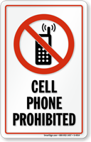 128x200 No Cell Phones In Locker Room Signs