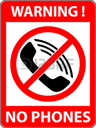 338x450 No Phone, Telephone, Cellphone And Smartphone Prohibited Symbol
