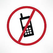170x170 Clipart Of Cellphone Signs, Forbidden And Allowed K1579382