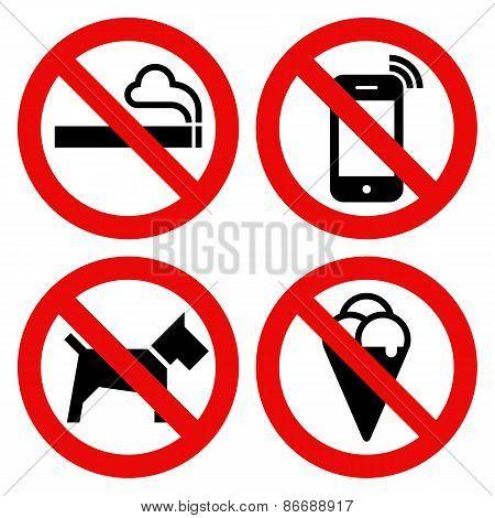 450x470 No Smoking, No Cell Phone, No Dogs Vector Amp Photo Bigstock