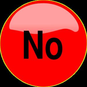 299x297 No Button Clip Art