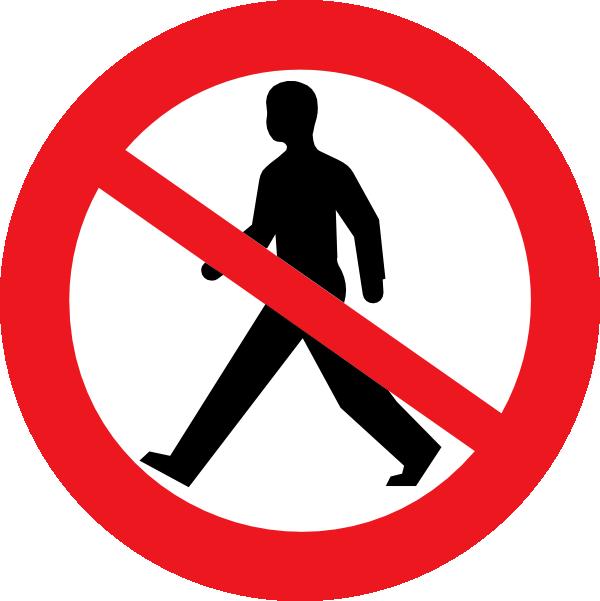 600x601 No Entry For Pedestrians Clip Art