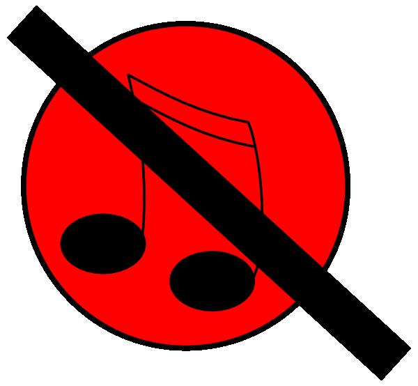 600x554 No Music Clip Art
