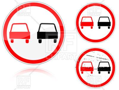 400x301 No Passing Road Sign Royalty Free Vector Clip Art Image