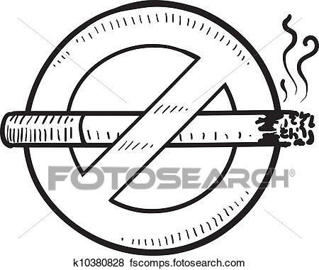450x380 Clip Art Of No Smoking Sign Sketch K10380828
