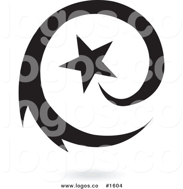 600x620 Royalty Free Vector Black Star With Black Swirl Logo By Cidepix