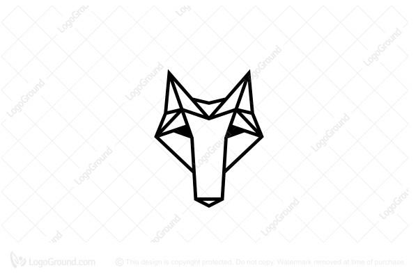 600x400 Wolf Geometric Logo