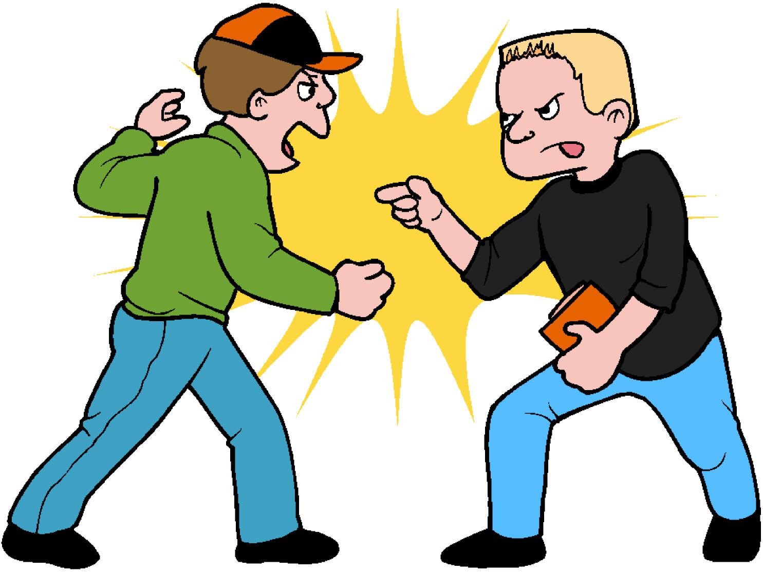 1485x1113 Fighting clipart