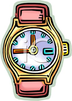 250x350 Picture Of A Wrist Watch With No Band In A Vector Clip Art