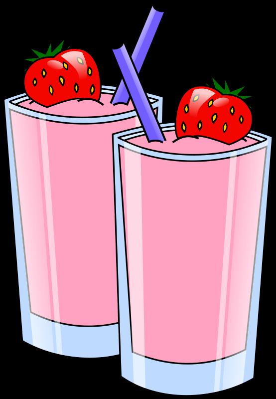 554x800 Free Strawberry Smoothies Clip Art