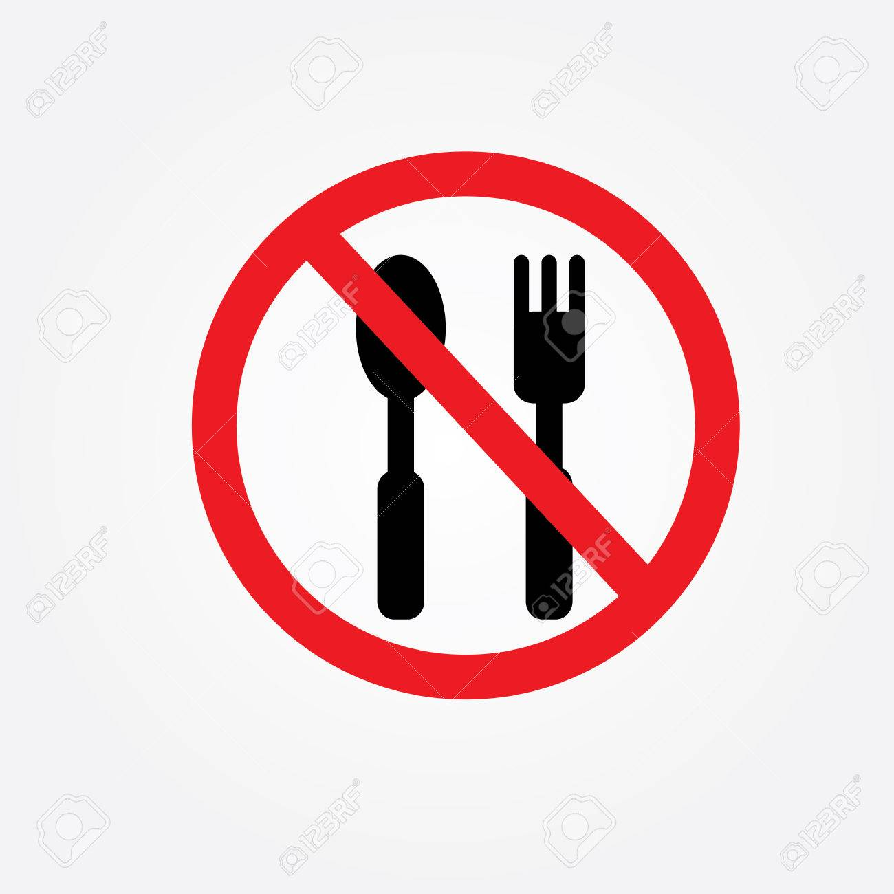 1300x1300 No Eating Vector Sign,no Food Or Drink Allowed Vector Royalty Free