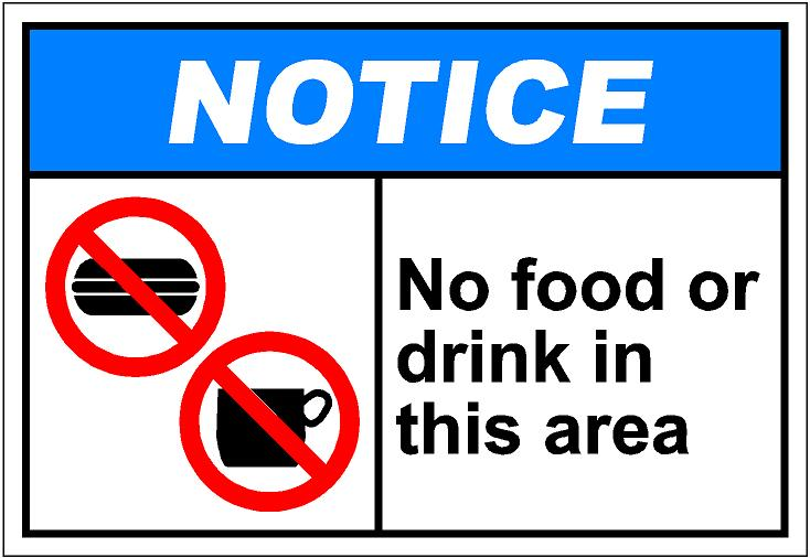734x506 No Food Or Drink Clipart