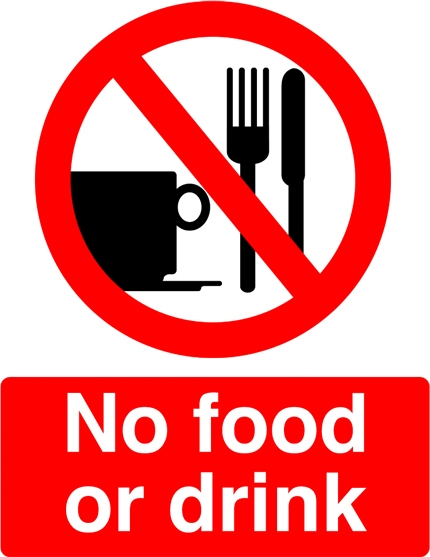 430x557 No Food Or Drinks Clipart