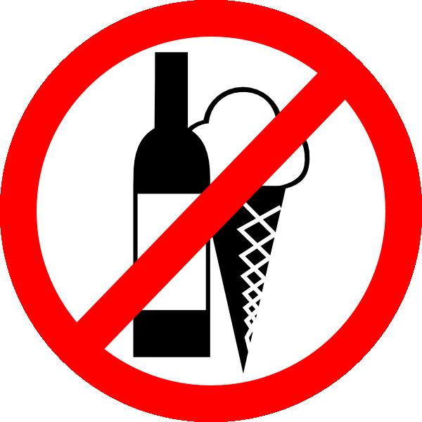 600x600 Sign No Drinks, No Ice Cream Clip Art