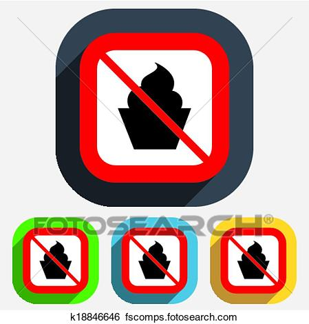 449x470 Clip Art Of No Food. Muffin Sign Icon. Sweet Cake Symbol