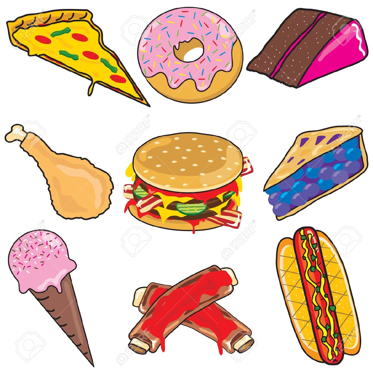 1300x1300 Food Clipart Party Food