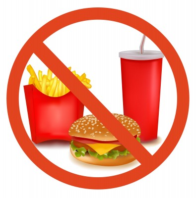 395x400 No Fast Food Clipart