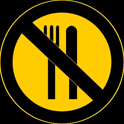 400x400 No Food Clipart