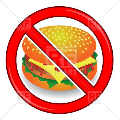 400x400 No Cheeseburger Sign Royalty Free Vector Clip Art Image