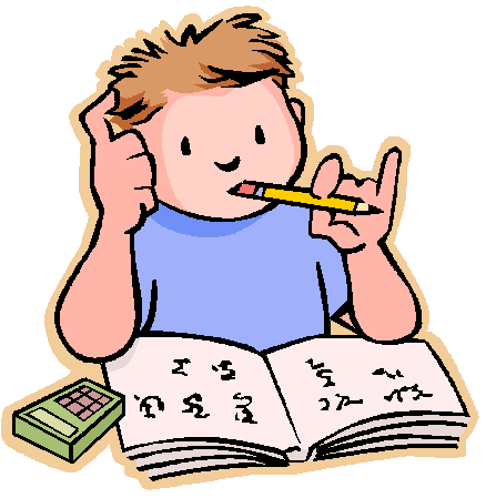438x449 Doing Homework No Homework Clipart