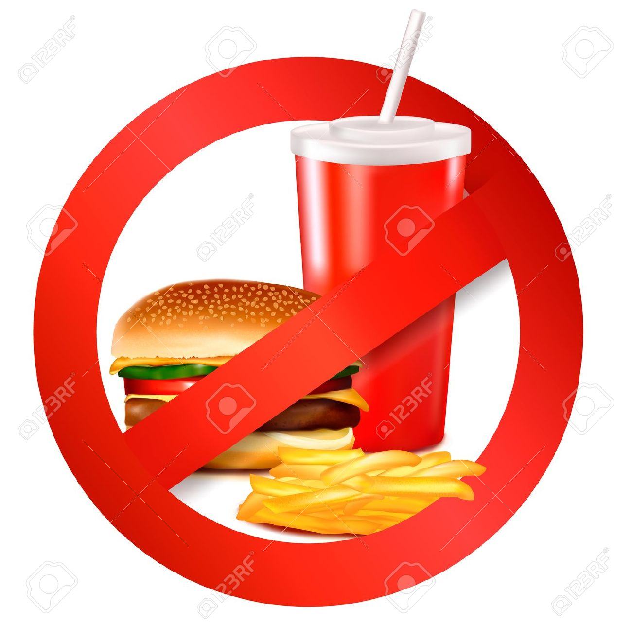 1300x1284 No Fast Food Clipart