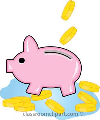 332x400 No Money Money Clipart Piggy Bank With Coins