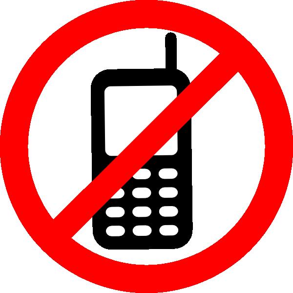 600x600 No Texting Allowed Sign Clip Art
