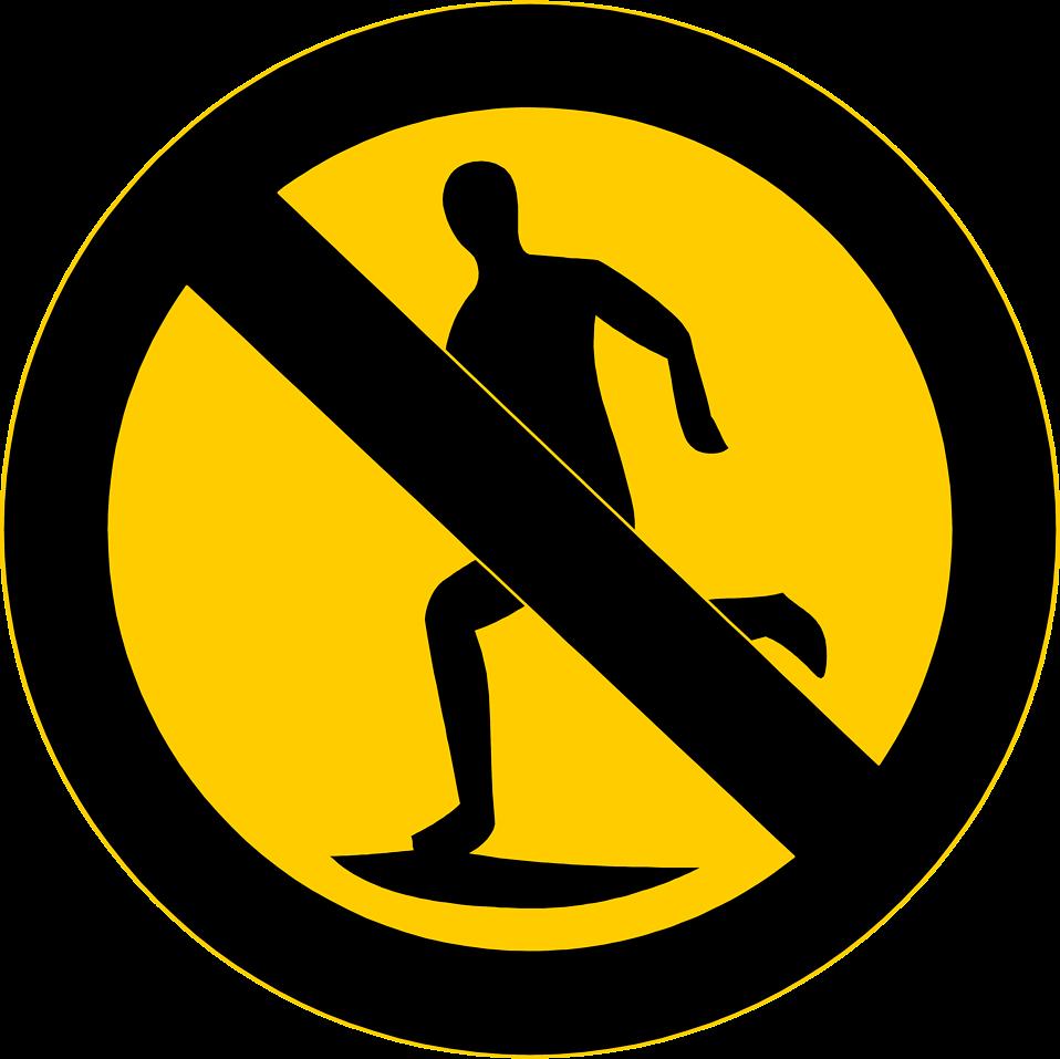 958x957 No Running Free Stock Photo Illustration Of A No Running
