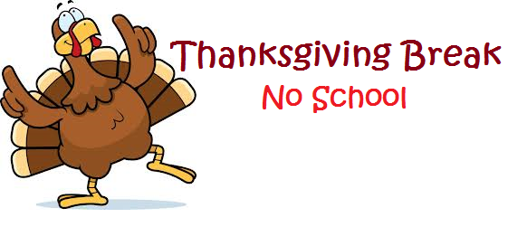 561x251 No School Thanksgiving Clipart