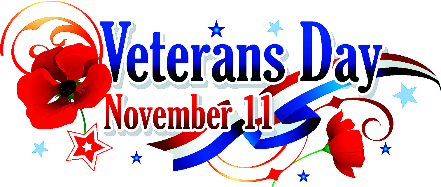 1512x642 No School Veterans Day Clipart