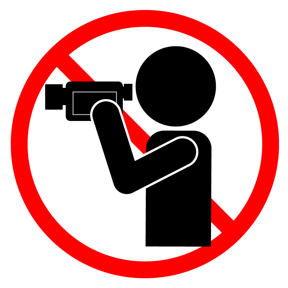 1000x1000 Video Shooting Prohibited Free Illustrations Warning Notice