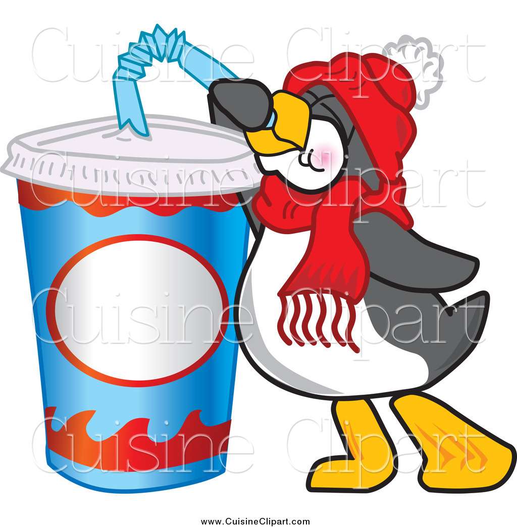 1024x1044 Cuisine Clipart Of Thirsty Penguin Drinking Soda Pop Through