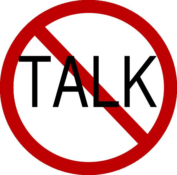 600x596 No Talk Clip Art