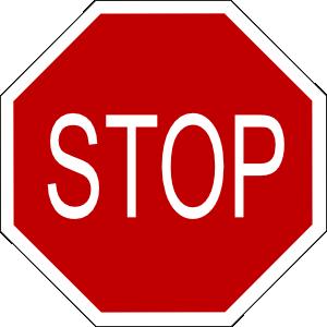 300x300 Stop Sign Clip Art