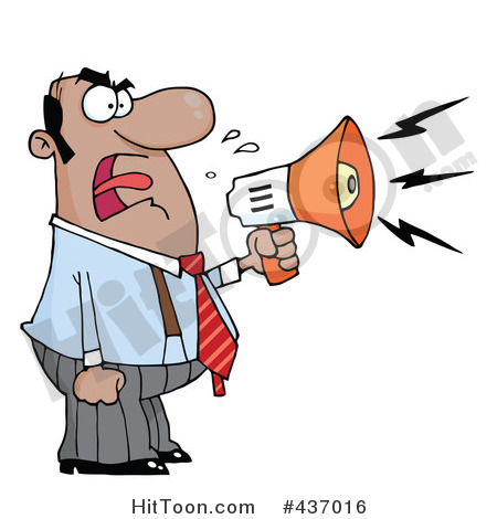 450x470 Noise clipart yelling