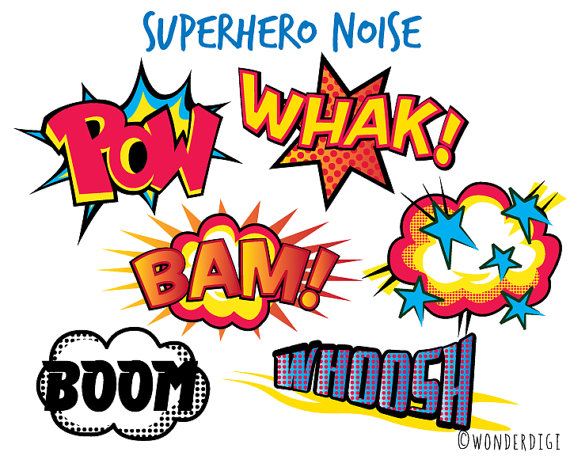 570x456 Superhero Clipart Comic Noise clip art Boys Clipart