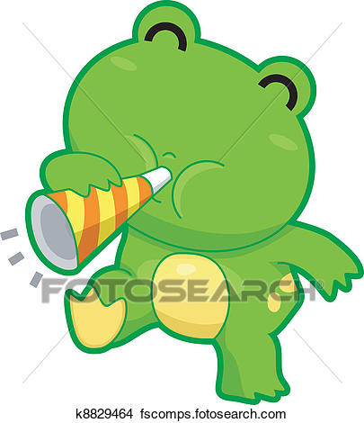 405x470 Clipart Of Frog Making Noise K8829464