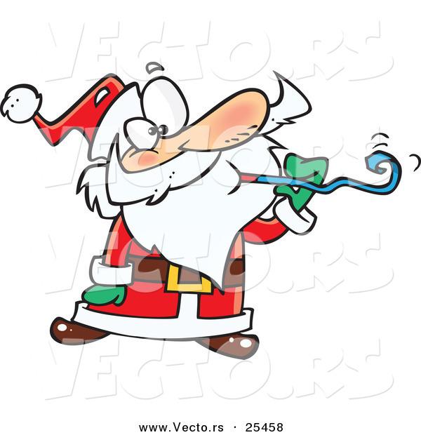 600x620 Cartoon Vector Of A Santa