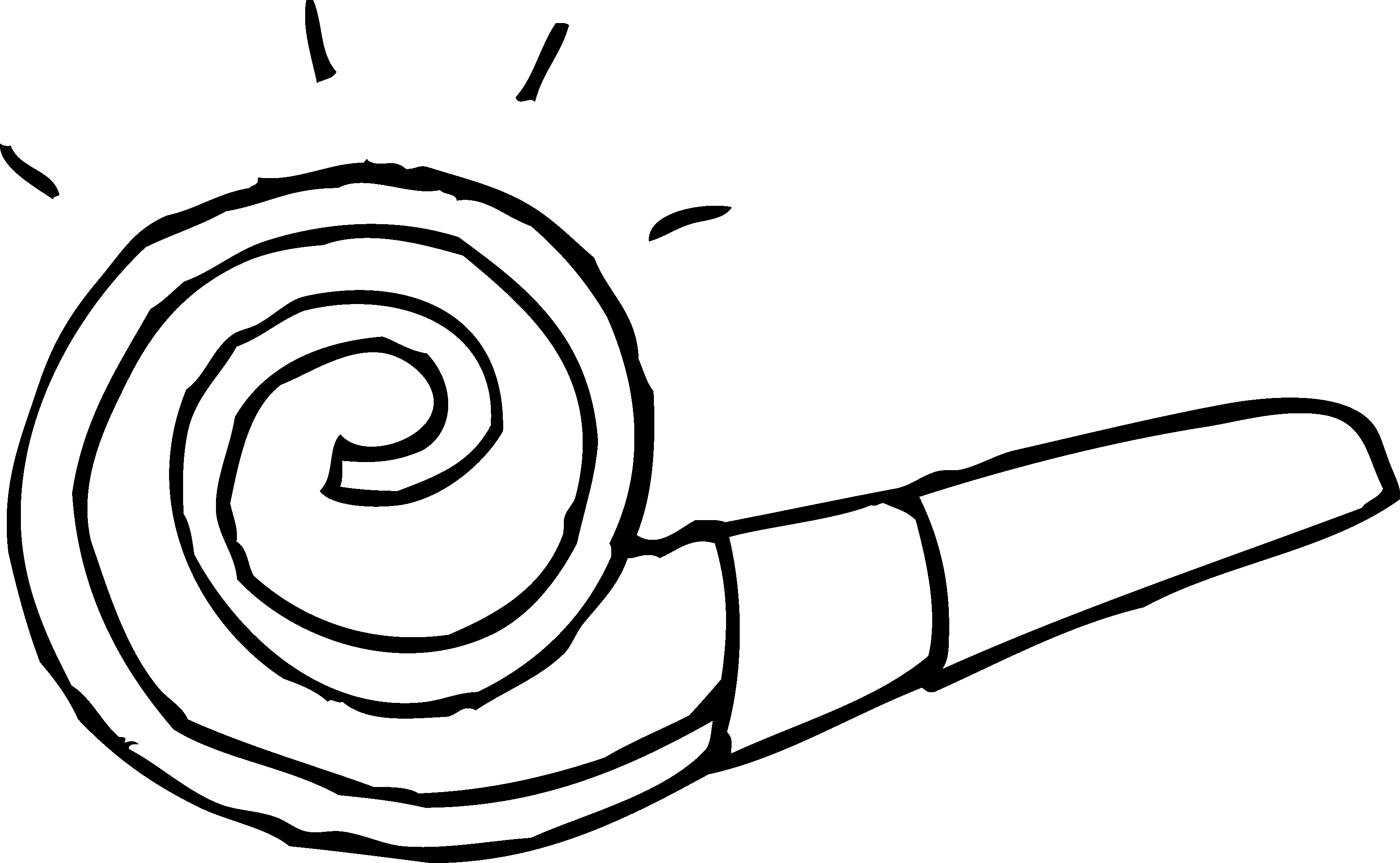 3280x2021 Party Blower Coloring Page