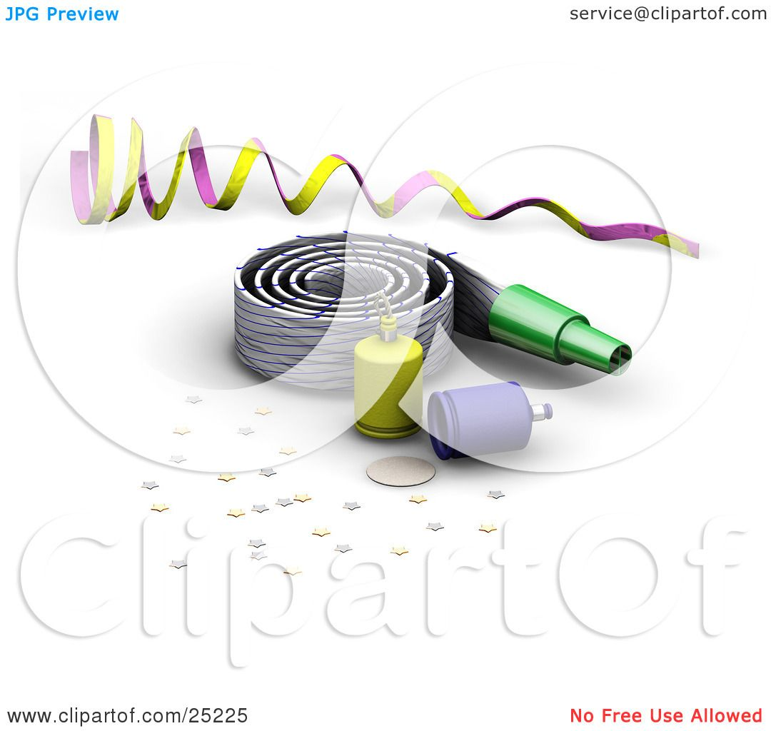 1080x1024 Clipart Illustration Of A Purple And Yellow Ribbon, Noise Maker
