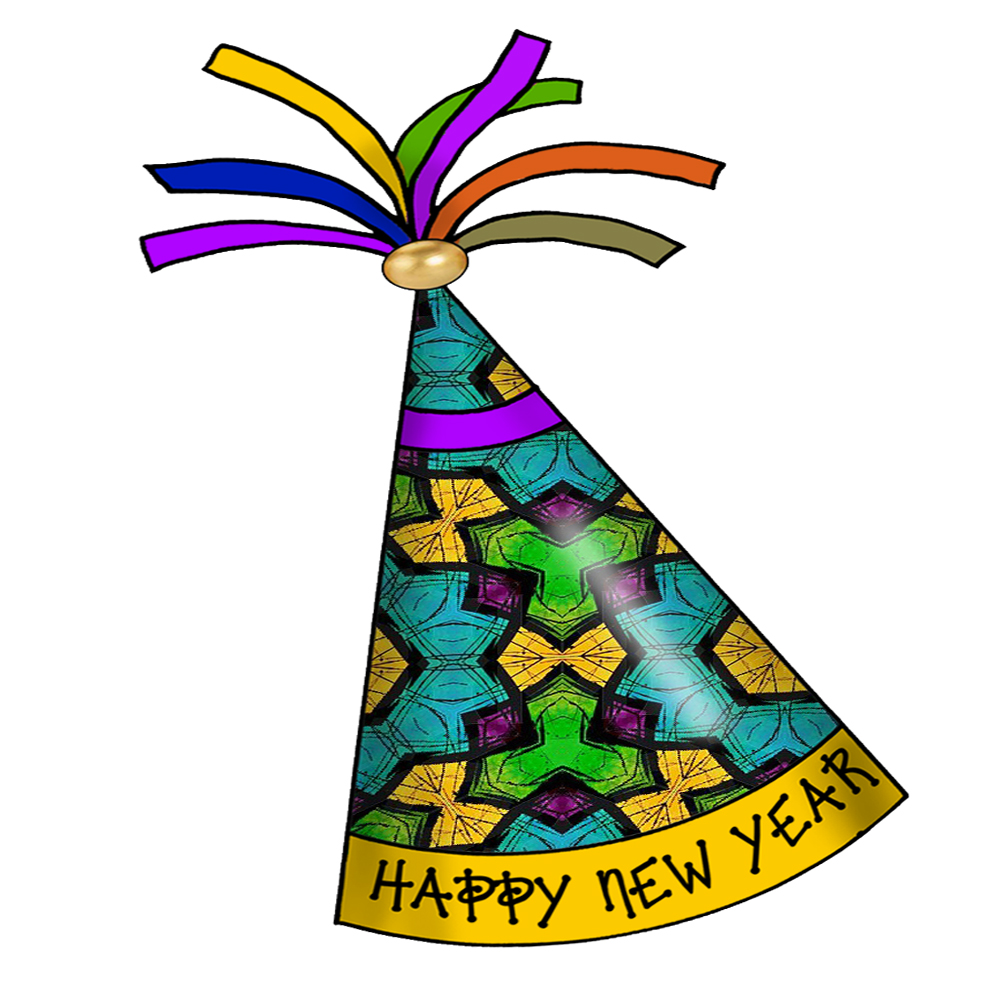1000x1000 New Year Clipart Party Hats And Horns