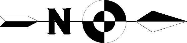 600x141 Compass Clipart North Arrow