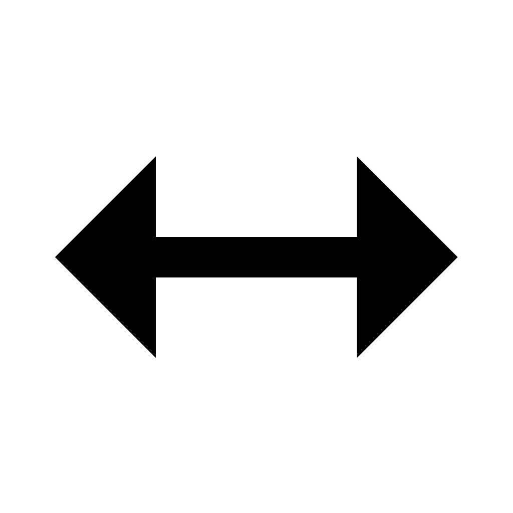 1024x1024 Double Sided Arrow Clip Art