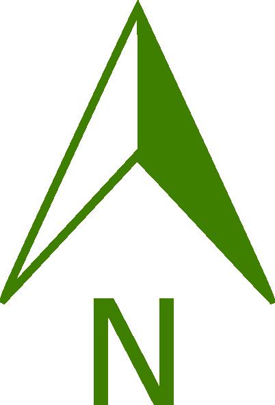 402x592 Green North Arrow Clip Art
