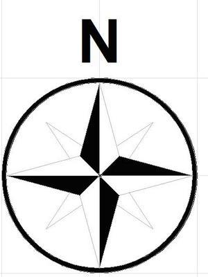 300x400 North Arrow Clip Art