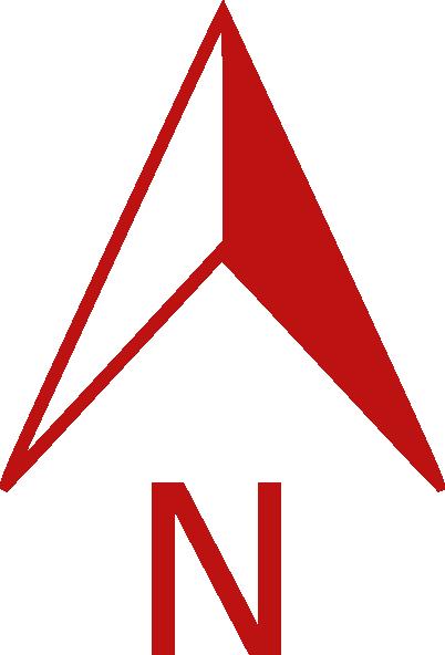 402x592 Red North Arrow Clip Art