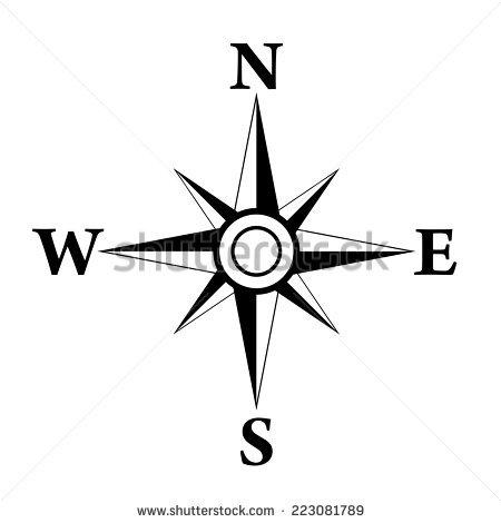 450x470 Compass Clipart North Arrow